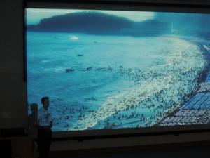 Sebastian Pitman presenting